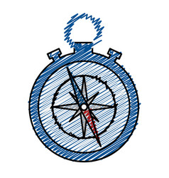 compass device icon vector image