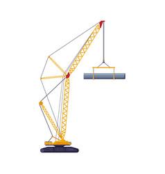 Construction or cargo crane heavy elevating vector