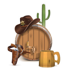 Cowboy Bar Concept vector