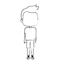 Cute boy avatar character vector