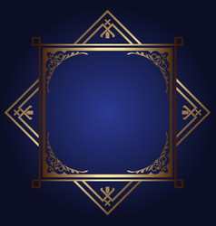 Decorative background with gold frame vector