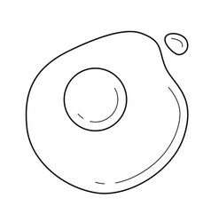Eggs line icon vector