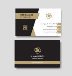 elegant business card vector image