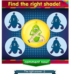 Find the right shade cucumber 2 vector