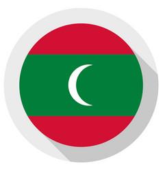 Flag maldives round shape icon on white vector