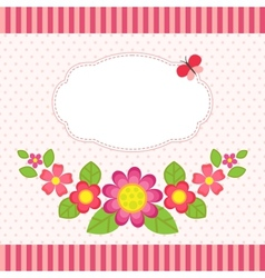 Floral card with a frame vector image