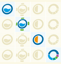 Four water pipeline concept icons in geometric vector