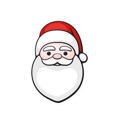 Head santa claus spirit christmas vector