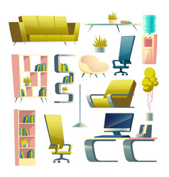 house or apartment furniture cartoon set vector image