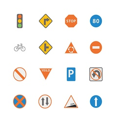 Icon Traffic Sign vector image