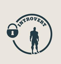 introvert metaphor icon vector image