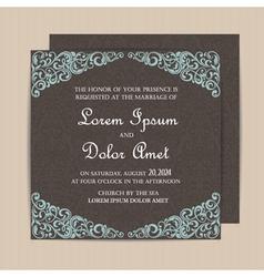 Invitation card dark vector