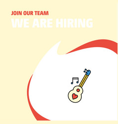 join our team busienss company love guitar we are vector image