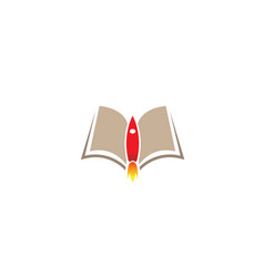 launch book reading logo vector image