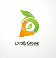 Logo design for locally grown farm fresh products vector