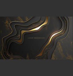 Luxury gold background elegant black with gold vector
