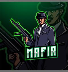 mafia esport mascot logo gaming design vector image