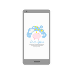 mobile banking applications for personal vector image