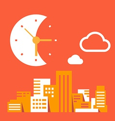 Night time in the big city vector