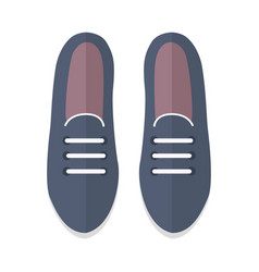 pair of shoes in flat design vector image