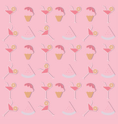 pattern background for summer summer party vector image