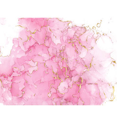 pink watercolor fluid painting design card vector image