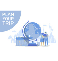 plan your trip concept for web banner vector image