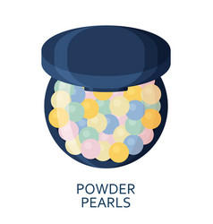 powder pearls make up background cosmetic icons vector image
