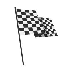 Racing finishing flag pictogram vector