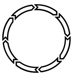 Rotation circle thin line icon vector