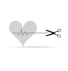 Scissor with heartbeat vector