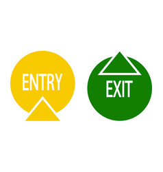 Sign of entry and exit vector