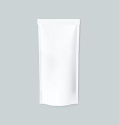 Simple white blank foil food slim pack vector