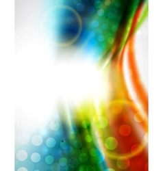 Smooth wave colorful background vector image