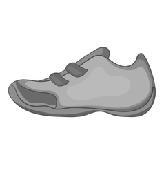 Sneakers for tennis icon gray monochrome style vector