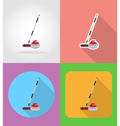 sport flat icons 08 vector image