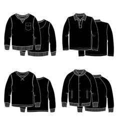 Sweaters black vector image