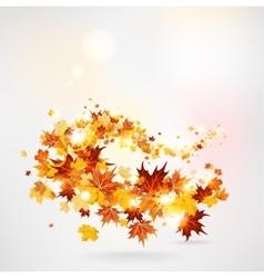 Swirl of maple leaves vector