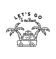 t shirt design with summer travel concept vector image