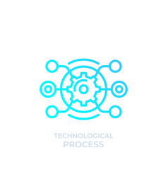 Technological process linear icon vector