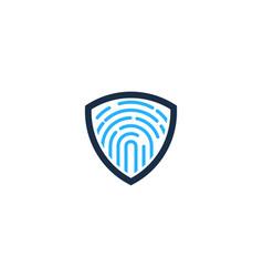 touch shield logo icon design vector image