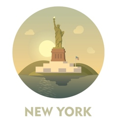 travel destination new york icon vector image