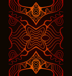 tribal ethnic abstract ornament orange red vector image