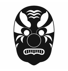 Tribal mask icon simple style vector image