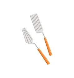 Two Spatulas Set Of Pizza Preparation Kitchen vector image