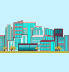 Urban landscape with skyscrapers vector