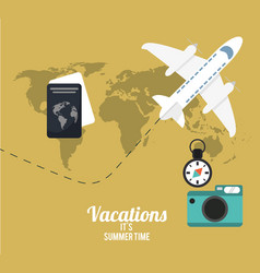 vacations summer time concept poster vector image