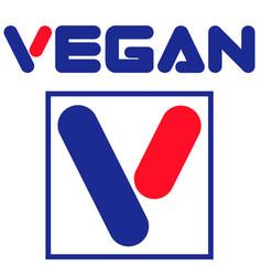vegan desing brand print shirt vector image