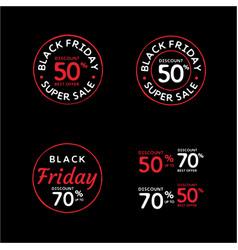Vintage retro black friday discount badge stamp vector