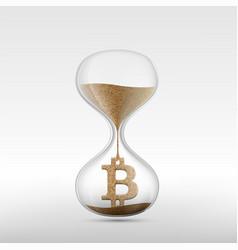 virtual currency bitcoin vector image